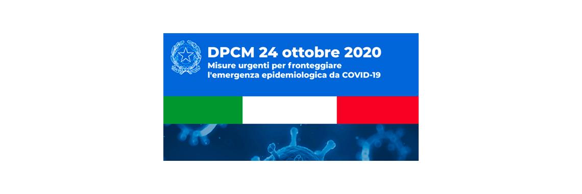 DPCM DEL 24 OTTOBRE 2020